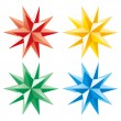 Royalty-Free Stock Imagen vectorial: 3D vector shining star
