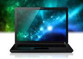 Star sky in computer — Stock Photo