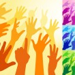 Royalty-Free Stock Vectorafbeeldingen: Raised Hands