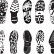 Royalty-Free Stock Vector Image: High detail Shoe Tracks collection