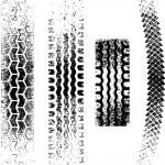 Grunge Tire tracks — Stock Vector