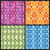 Retro Patterns — Stock Vector