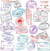 Sellos de pasaporte — Vector de stock