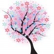 Blossoming spring tree — Stock Vector