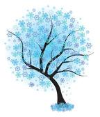 árbol de invierno congelado — Vector de stock