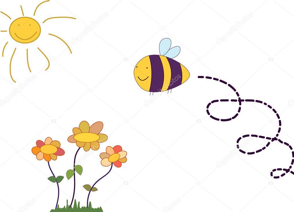 Cartoon bees flying - photo#20