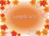 Hojas de otoño marco de texto — Vector de stock