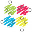 Isolated colourful puzzle from white background — Stock Vector