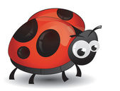 Comic ladybird isolated — Vector de stock