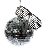 Disco ball with glasses — Stock Photo