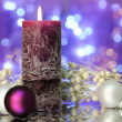 Christmas candle — Stock Photo #6131234
