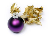 Purple bauble — Stock Photo