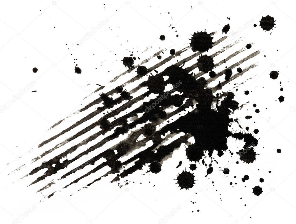 Background of ink strokes and blobs — Foto de Stock   #6133566