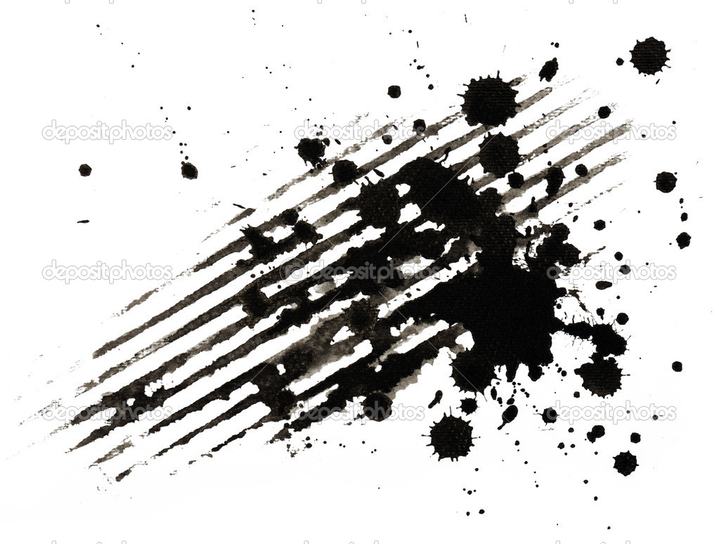 Background of ink strokes and blobs  Stockfoto #6133566