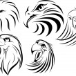Stock Vector: Eagle Face set 1