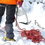 Equipment for ice climbing — Stock Photo