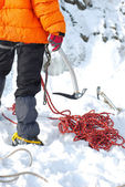 Equipment for ice climbing — Stock Photo