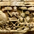 Art carvings on the wall in Angkor Wat  — Stock Photo