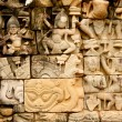 Art carvings on wall in Angkor Wat — Stock Photo #6425333