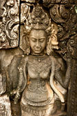 Rostos sorridentes no templo de bayon — Fotografia Stock