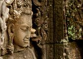 Caras sonrientes en el templo de bayon — Foto de Stock