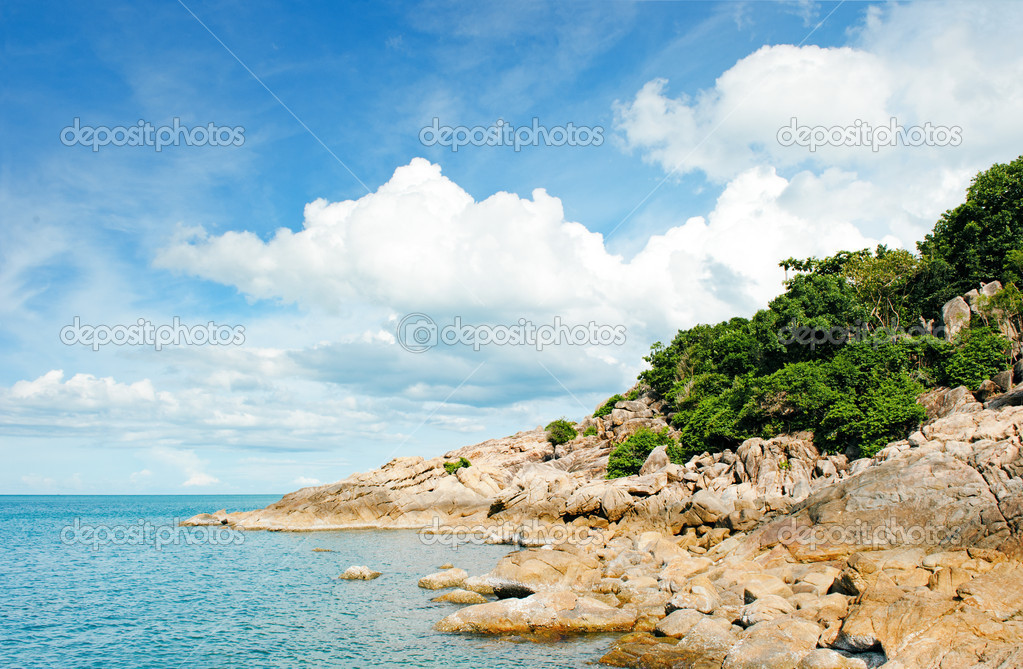 Tropical beach at Seychelles - vacation background  Stock Photo #6656305