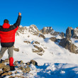 Hiking in winter mountains — Stock Photo #6704460