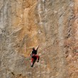 Stock Photo: Rock-climber during rock conquest