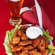 Buffalo chicken wings — Stock Photo #6038598