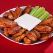 Stock Photo: Buffalo chicken wings