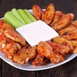 Buffalo chicken wings — Stock Photo #6038640