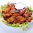 Buffalo chicken wings — Stock Photo #6038689