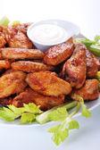 Buffalo chicken wings — Stock Photo