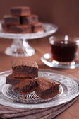 Chocolate brownies — 图库照片