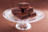 Chocolate brownies — Stock Photo