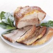 Stock Photo: Roasted pork