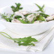 Salad with rucola and mushrooms — Stock Photo