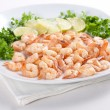 Shrimps with lime — Stock Photo