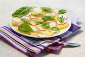 Radish and potato salad — Stock Photo