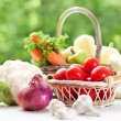 Vegetables in basket — Stock Photo #6397438