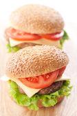 Two cheeseburgers — Stock Photo