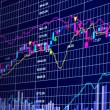 3d blue stock chart — Stock Photo #6222067