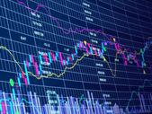 3d blue stock chart — Stock Photo