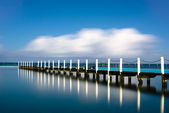 Narrabeen Tidal Pool Pier Reflection — Stock Photo