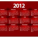 Creative 2012 calender template — Stock Vector