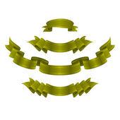 Eine Reihe von 4 golden royal Banner — Stockvektor