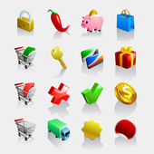 16 e-commerce icons — Stock Vector