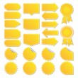 Royalty-Free Stock Vector Image: Yellow price tags