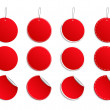 Vector red round stickers — Stock Vector #6246387
