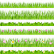 Stock Vector: Vector Seamless Grass